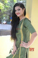 Akshitha cute beauty in Green Salwar at Satya Gang Movie Audio Success meet ~  Exclusive Galleries 003.jpg