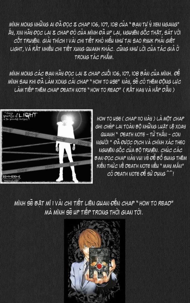 Death Note chapter 110 - how to use trang 2