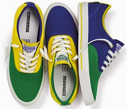 f57566b4fe5d tênis cores do Brasil Converse coleção Brasilidade para a Copa do Mundo  Brasil cores verde amarelo