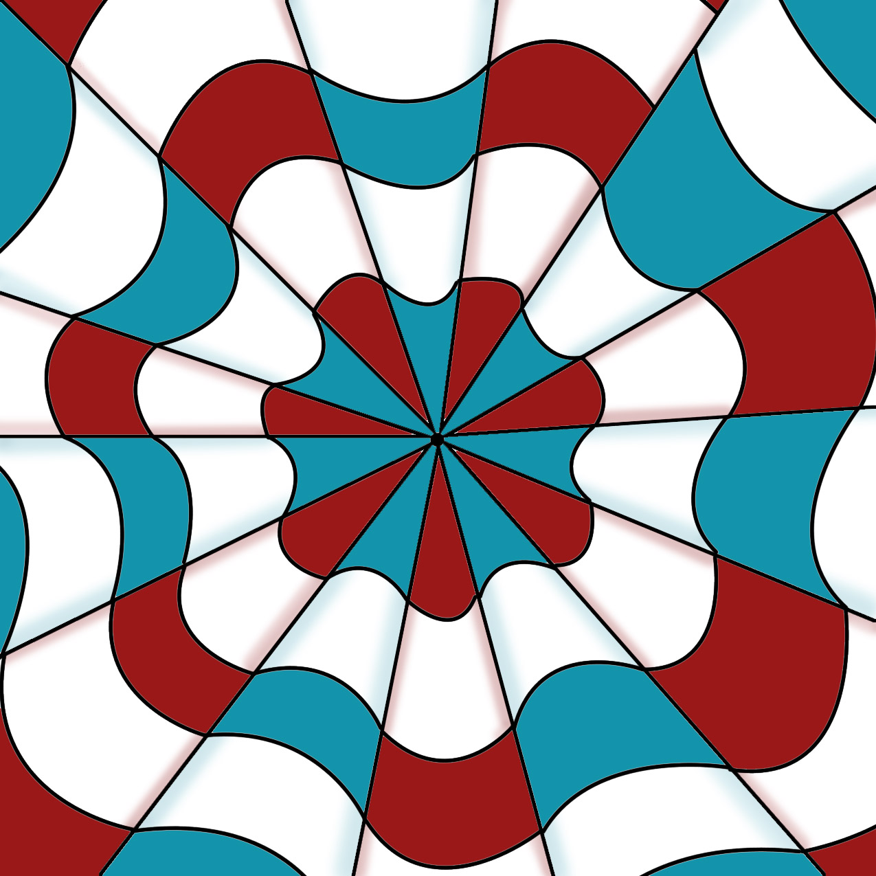 optical illusion illusions line digital project radial drawing op drawings projects cool math ruler tutorial hand middle coloring pages create