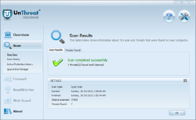 برنامج UnThreat Free AntiVirus 2020 يشمل مميزات كثيرة مثل Real-time