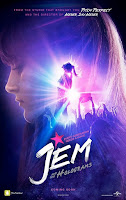 jem holograms movie poster octomer 2015 pink hair disappointing