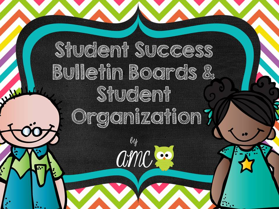 http://www.teacherspayteachers.com/Product/Student-Success-Bulletin-Boards-and-Student-Organization-1351690