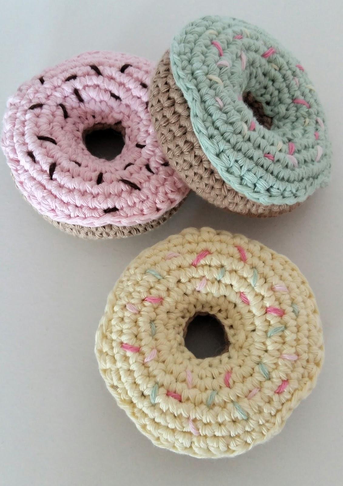 F e du tricot dinette pastel donuts et glace au crochet - Demi bride au crochet ...