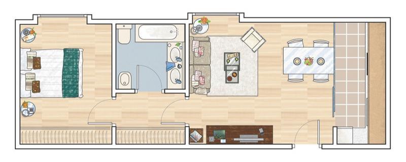 Amenajarea unui apartament tip vagon jurnal de design interior for Deco appartement 42m2