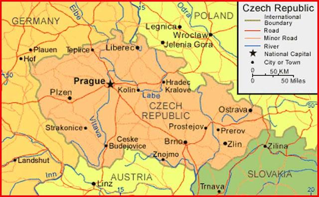 Gambar Peta Ceko