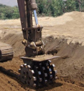 Compaction with ROTARY COMPACTION WHEEL