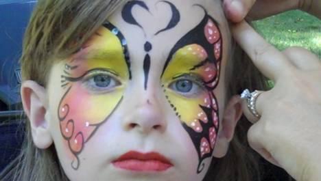 noe pintacaritas face painting mariposa