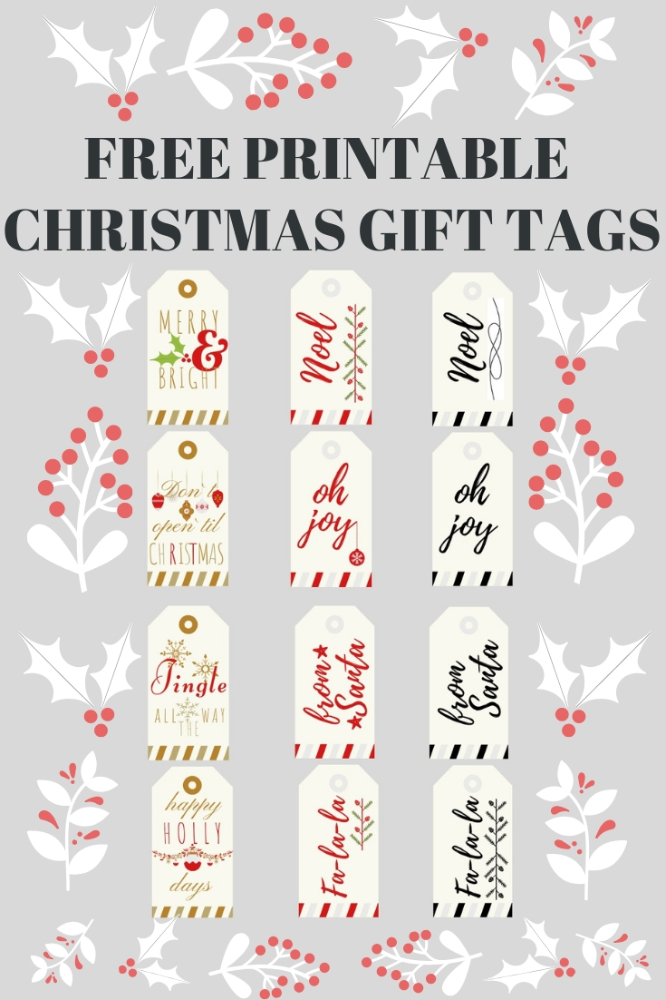 photograph regarding Printable Christmas Gift Tag known as Totally free Printable Xmas Reward Tags House Stylish Club: Cost-free