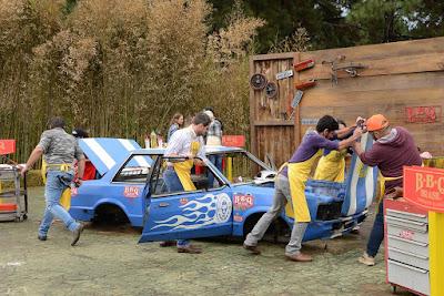 Na Prova em Grupo, participantes terão que transformar carro em churrasqueira (Crédito: João Raposo)