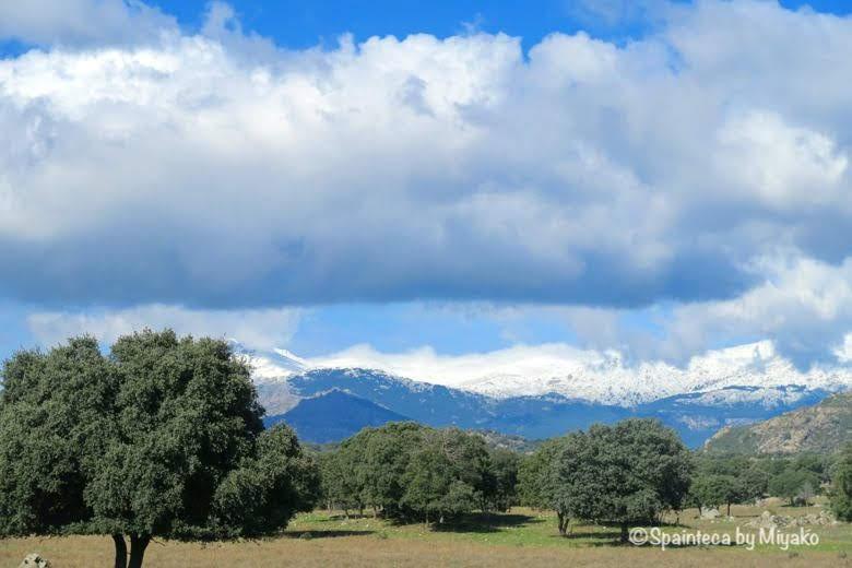 スペイン・マドリードの雪山
