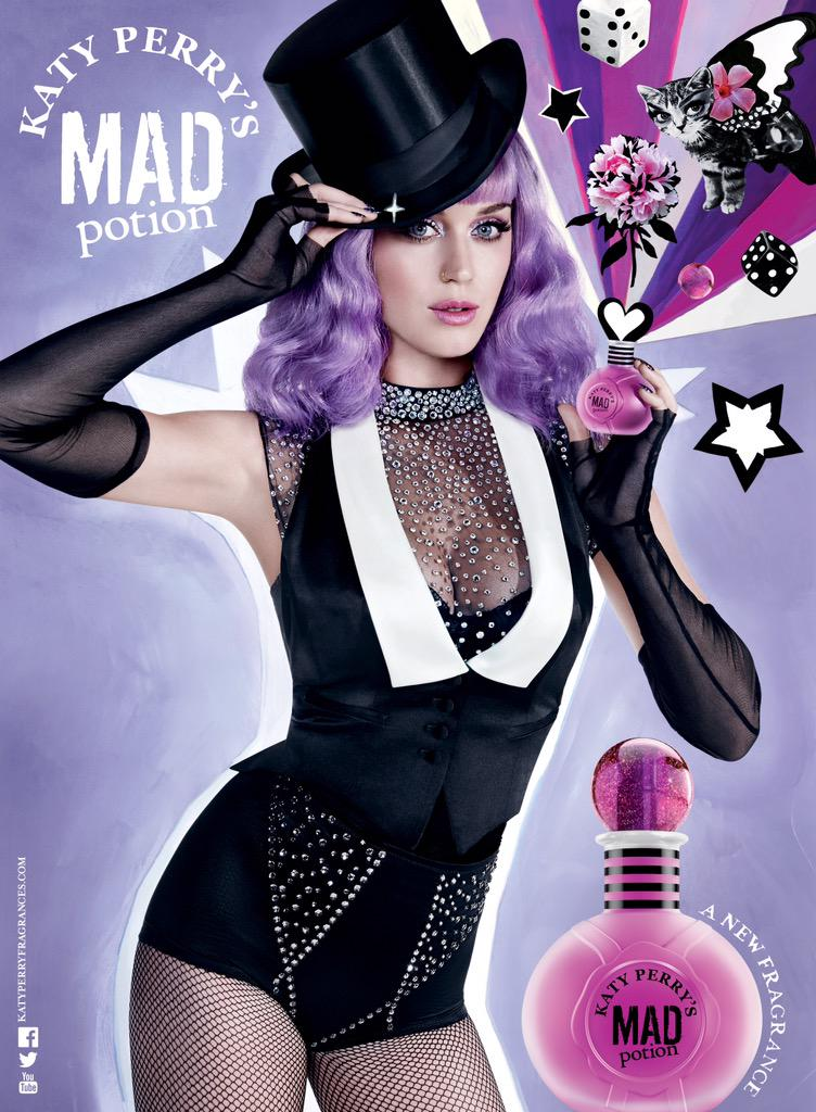 Katy Perry bares cleavage for the 'Mad Potion' fragrance campaign