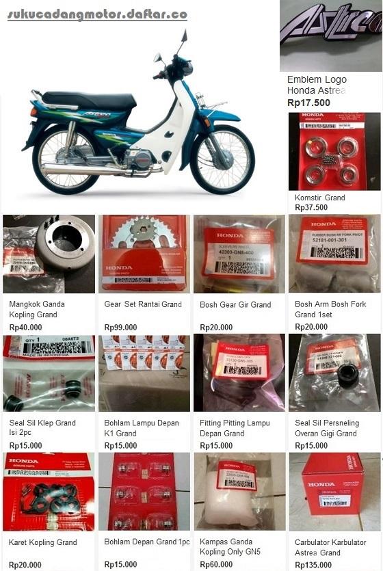 Daftar Harga Spare Part Honda Astrea Grand Impressa Legenda