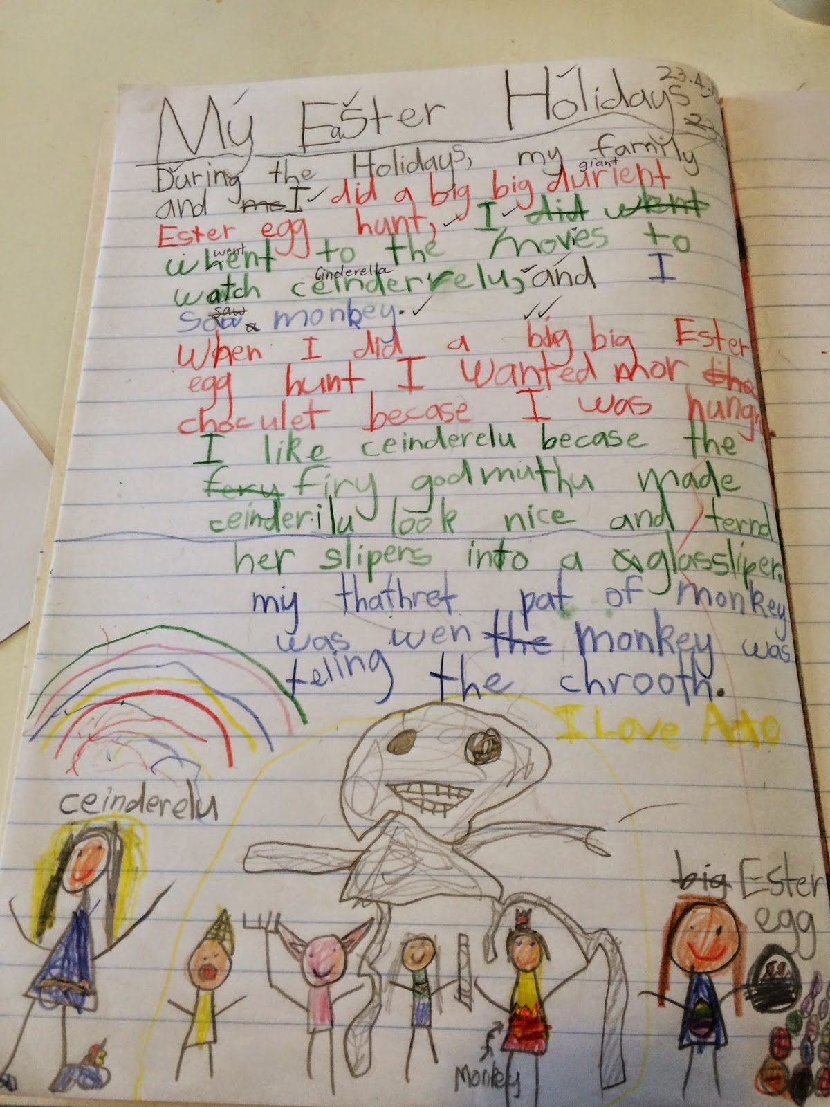 Writing 6 Year Old