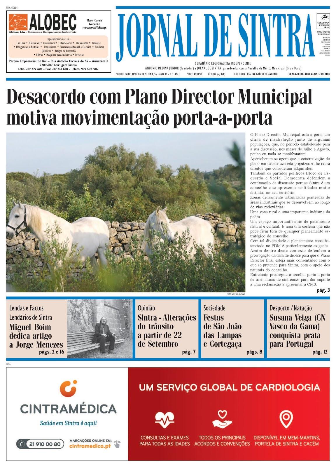 Capa da edição de 31-08-2018