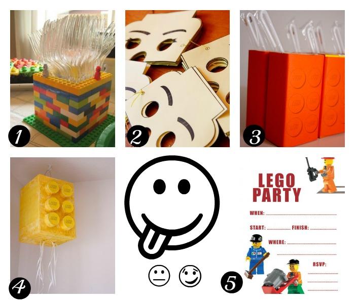 recursos para imprimir o imitar en una fiesta Lego