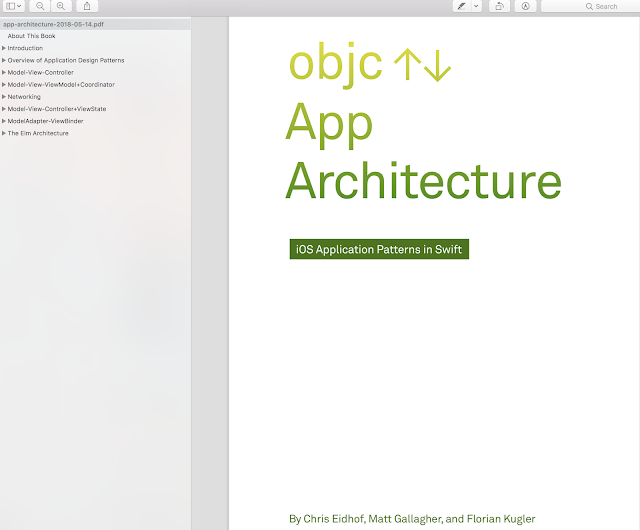 App Architecture - iOS Application Design Patterns in Swift  - Objc.io book