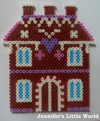 Hama bead gingerbread house design