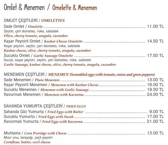 hacı sayid menü fiyat kahvaltı
