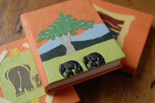 cuadernos de escrementos de elefante