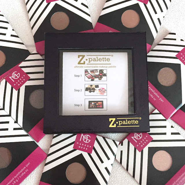 Makeup Geek Eye Shadows And Z Palette - My Thoughts
