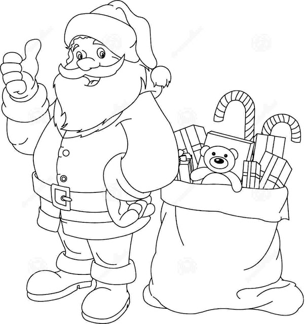 Santa Claus Images For Drawing