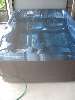 filling a hot tub is right up there with watching paint dry for an exciting Saturday activity!