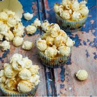 Cheesecake Cupcakes mit Karamellpopcorn