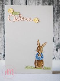 Stampin' Up! rosa Mädchen Kulmbach: Stamp A(r)ttack Blog Hop: Hoppy Easter – Osterkarte mit Fable Friends und Framelits Gut gesagt