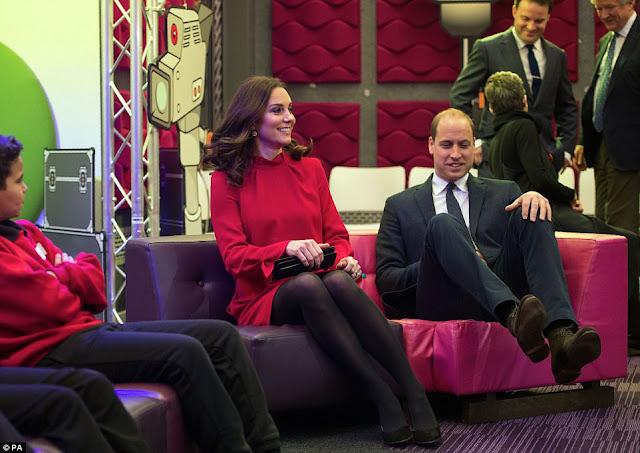 Para książęca na Children's Global Media Summit w Manchesterze