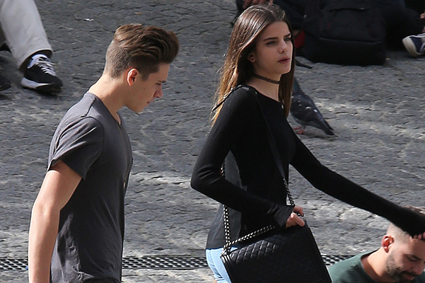 At Brooklyn Beckham's new girl?