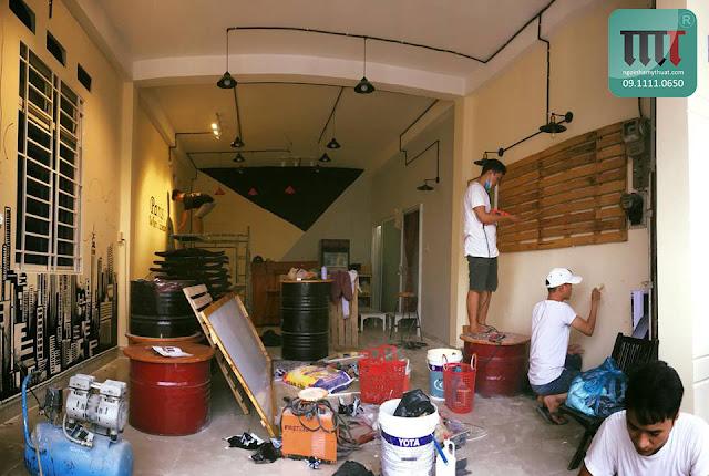 thi cong sửa chữa quán cafe re dep