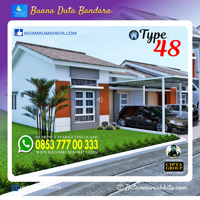 Rumah Type 48 Buana Duta Bandara-1