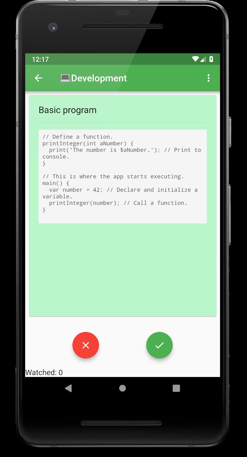 Delern Flashcards. Карточка для  изучения программирования