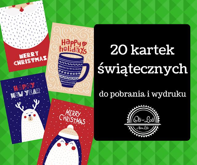 20 świątecznych kartek do pobrania i wydruku