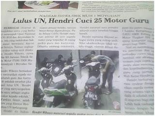 Murid Budiman, Rayakan Kelulusan Siswa Ini Cuci 25 Motor Guru