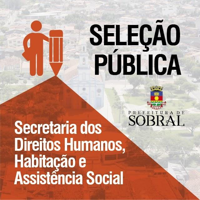 Prefeitura de Sobral abre seleção pública para cadastro de reserva.