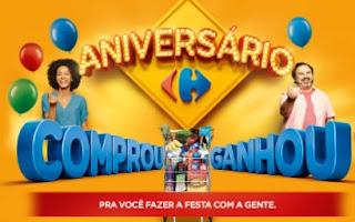 Promoção Carrefour Aniversário 2017 Vale Compras e Descontos nas Próximas Compras