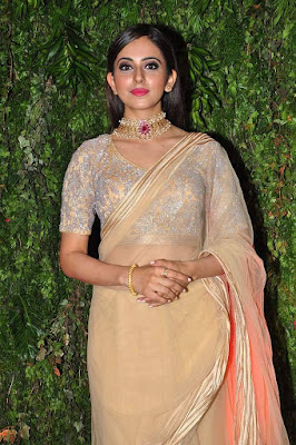 Rakul Preet Sing Cute wallpapers in Yellow Saree