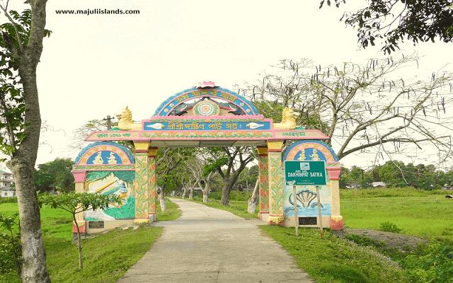 Dakhinpat Satra Gate Of Majuli Island