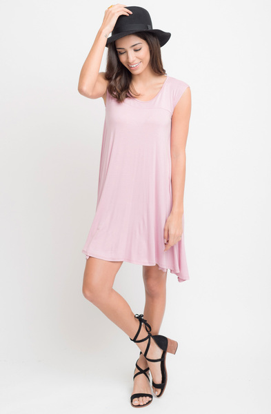 Buy Now Blush Jersey Scoop Neck Cap Sleeve Dress Tunic Online -Final Sale- $20 -@caralase.com