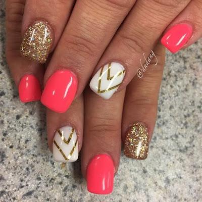 Perfect Summer Nail Designs 2018 Aztec Summer Nail For Short Nails