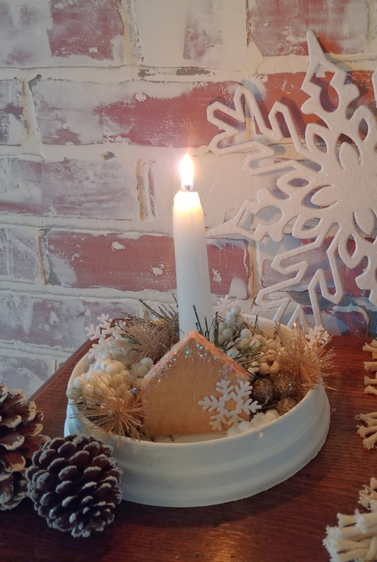 How to make a candle from an old light fixture