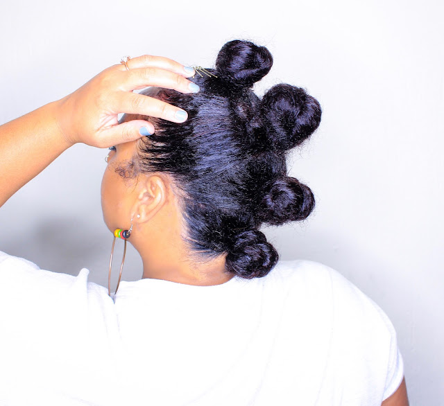 EASY Bun Hawk Protective Style featuring Mello Hair
