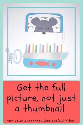 Mouse Card, Silhouette Design Store, Handmade, DIY, Eccentric Eclectic Sudio