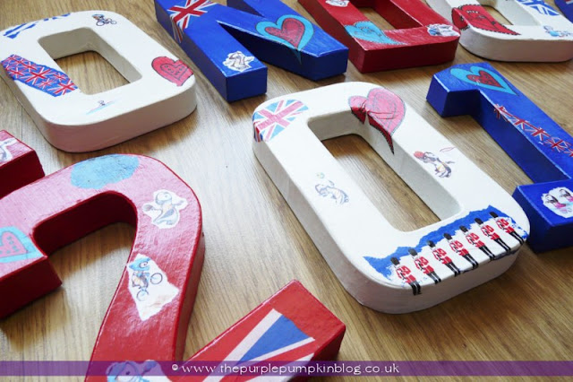 London 2012 Olympics Decoupage Craft at The Purple Pumpkin Blog