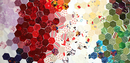 Colorful Cotton Fabric Hexagons for English Paper Piecing