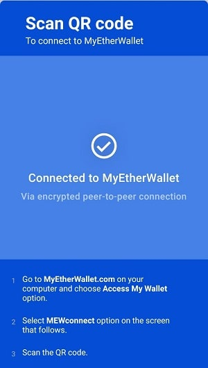 My Ether Wallet MEWconnect NUCLEUS VISION (NCASH)