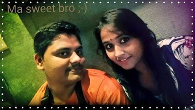 Kajal Raghwani with Her Brother (Bhai). cute Picture, bold photo