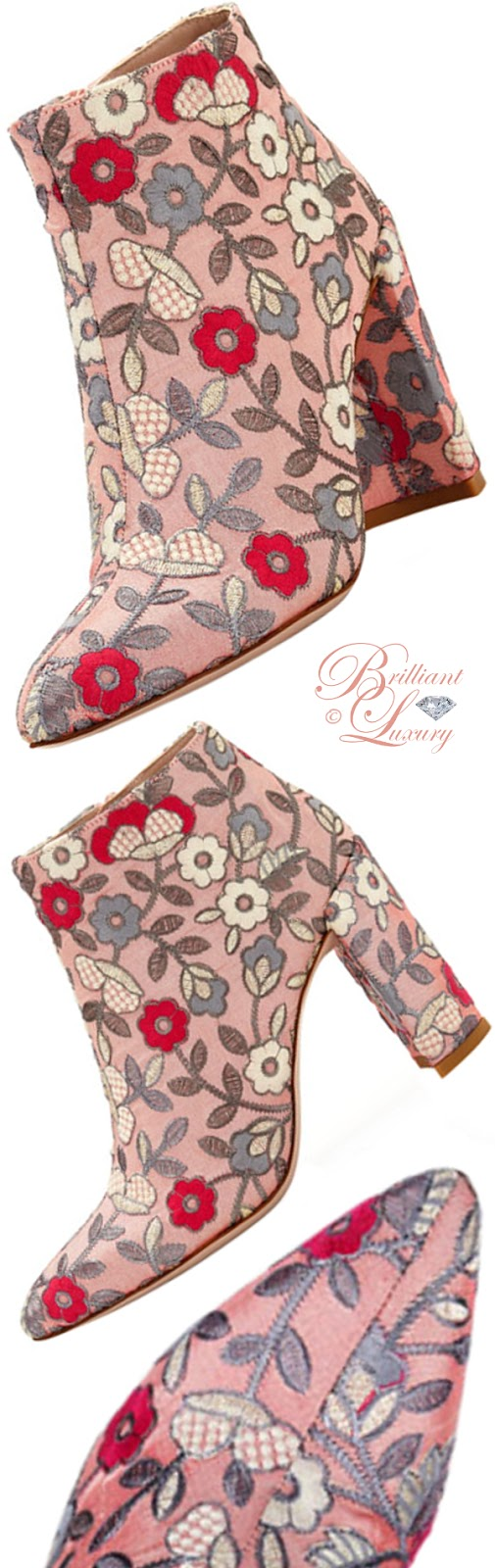 Brilliant Luxury ♦ Stuart Weitzman embroidered booties